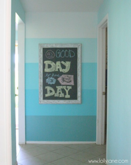 painted ombre feature wall, Lolly Jane