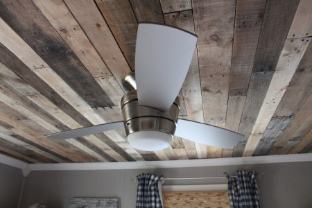 rustic pallet ceiling, featured on Remodelaholic