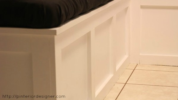 trim on dining banquette bench, Pinterior Designer featured on Remodelaholic