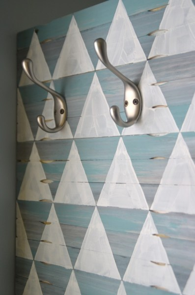 Decorative wood shim wall