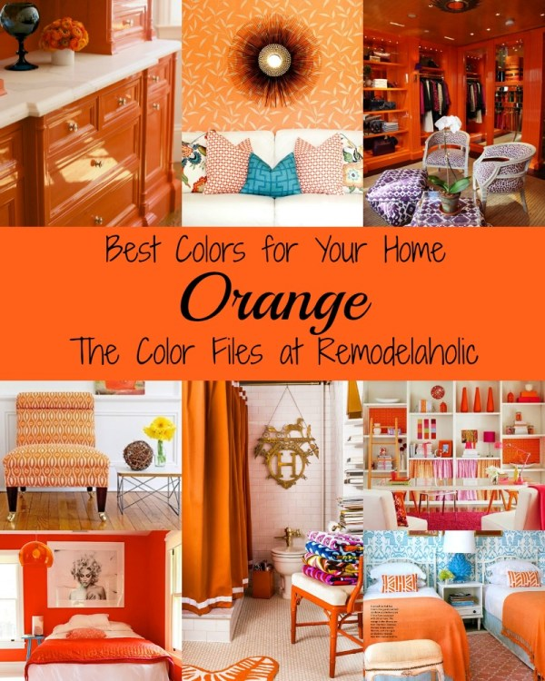Go bold! Decorate with orange to infuse life into any space #Remodelaholic