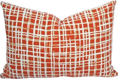 Tonic Living orange pillow