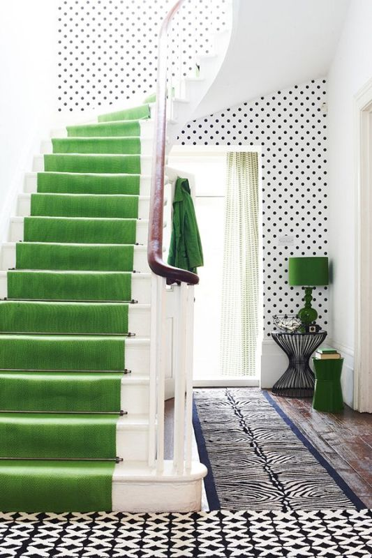 Green Stairs and Polka Dots
