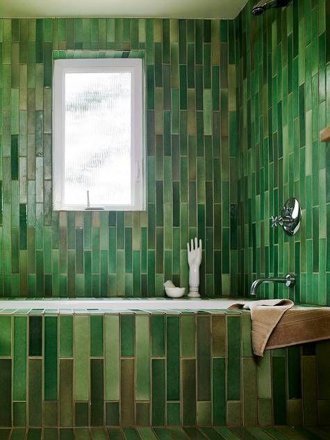 Green Tiled Bathroom