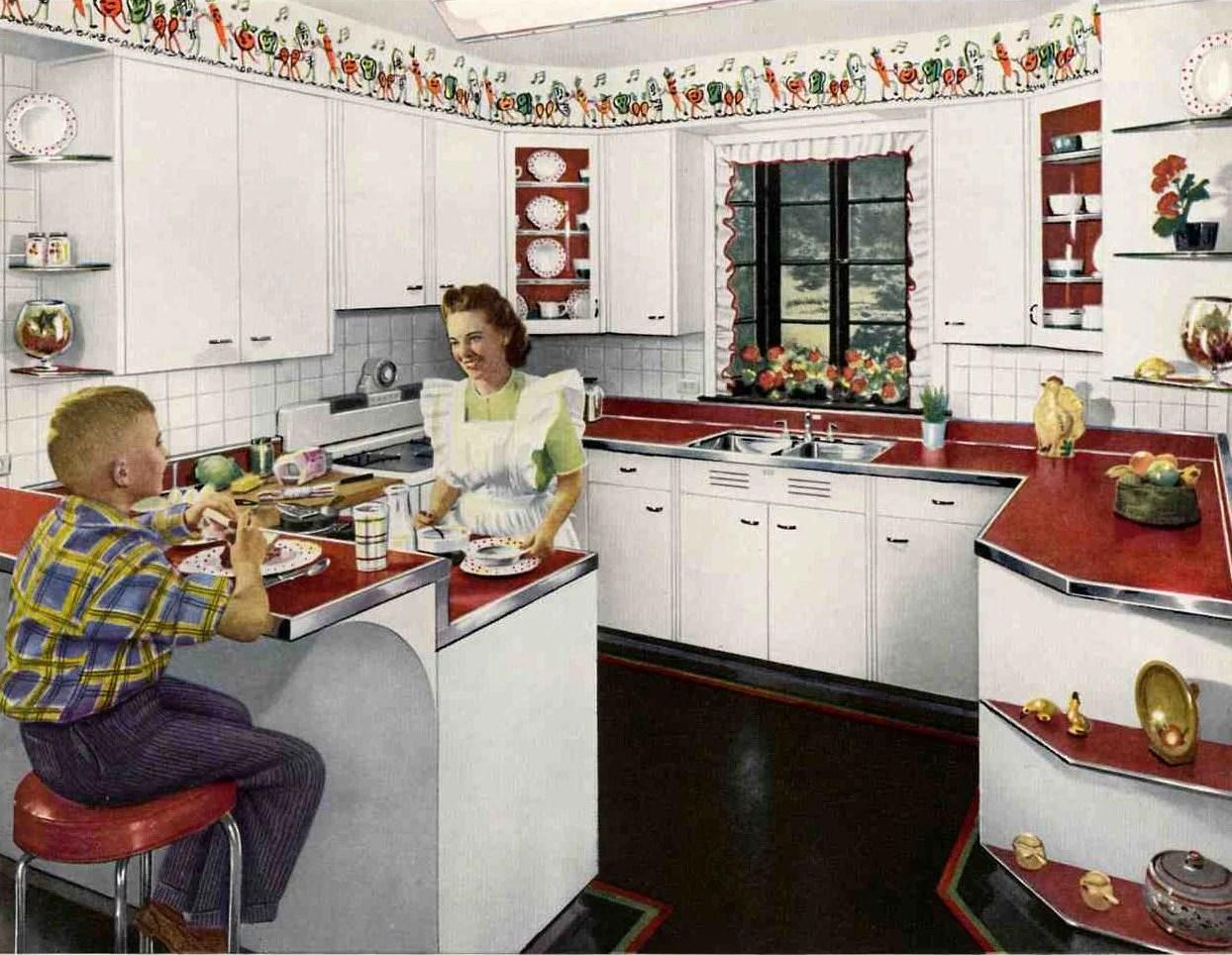 Ordinaire Retro Red Kitchen