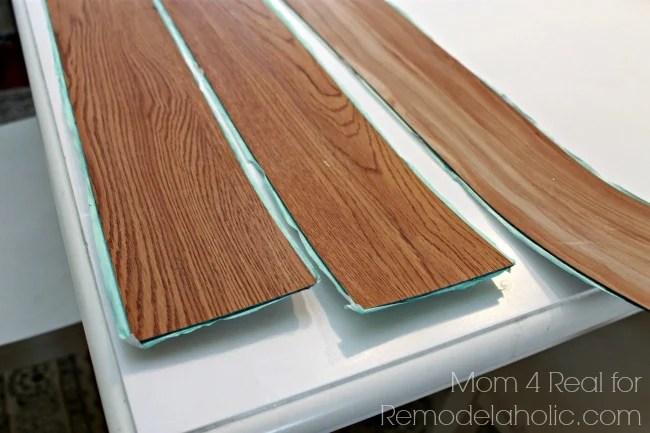 Remodelaholic | DIY Plank Backsplash Using Peel and Stick