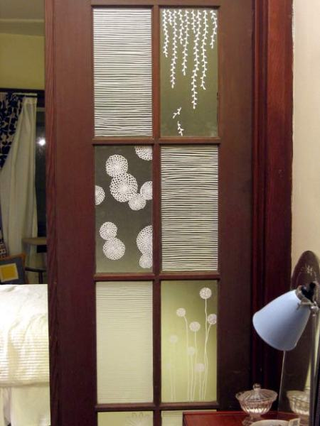 contact paper as privacy film on door