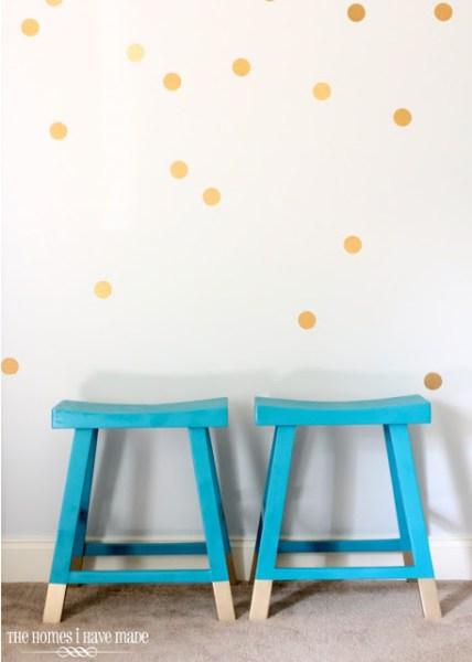 contact paper polka dot wall