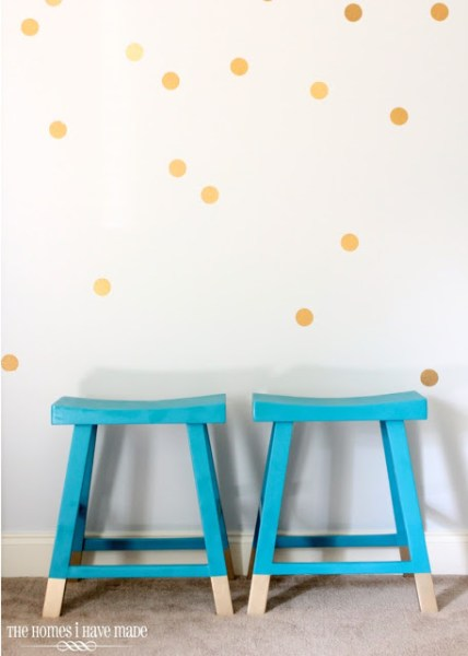 contact paper polka dot wall