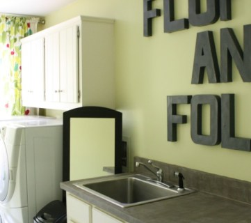 High Style, Low Cost Laundry Room Makeover