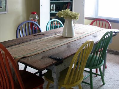 finished barn door kitchen table