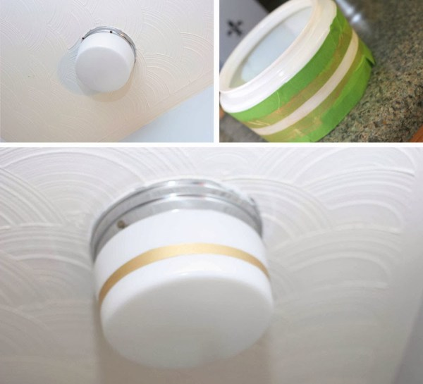 gold striped light makeover, Craftivity Designs on Remodelaholic