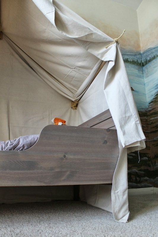 kids bed canopy - indoor camping tent, The Ragged Wren on Remodelaholic