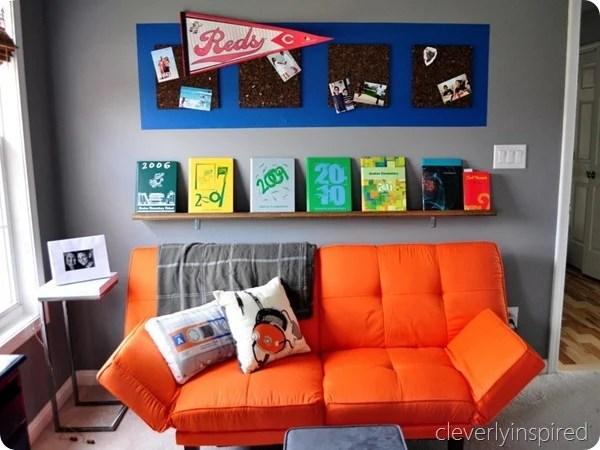 orange accent teen boys room