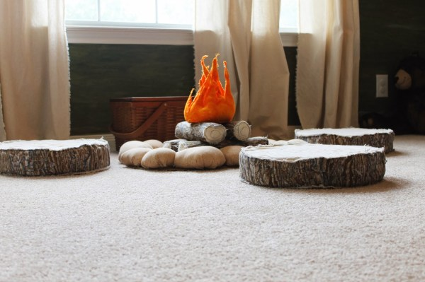 play campfire for kids, The Ragged Wren on Remodelaholic