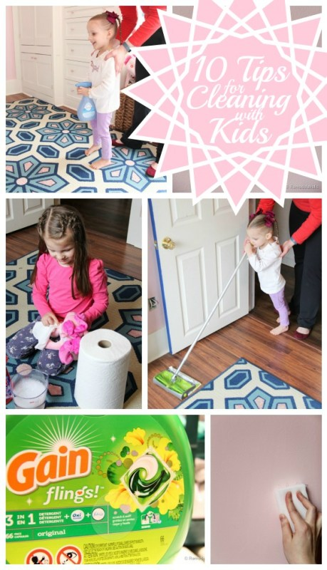teaching kids how to help out for spring cleaning