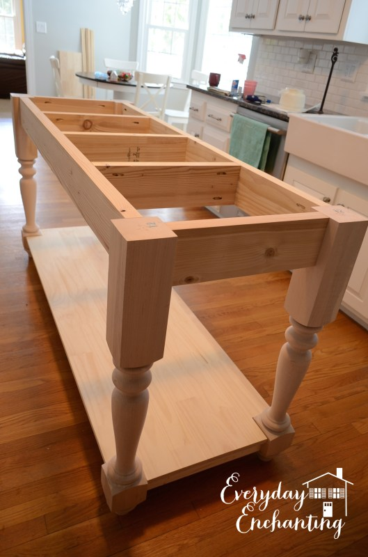 building the kitchen island base, Everyday Enchanting on Remodelaholic