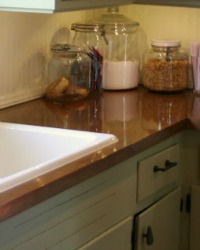 Glossy Painted Countertops Diy Copper Remodelaholic How To Create Faux  Reclaimed Wood Countertops