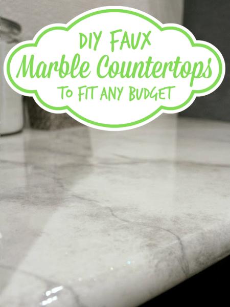 diy faux marble countertop tutorial, Batchelors Way on Remodelaholic