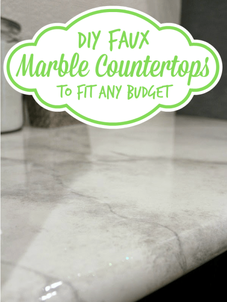 diy faux marble countertop tutorial, Batchelors Way on Remodelaholic
