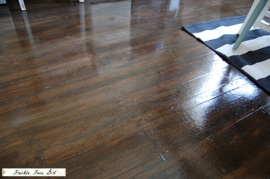 Remodelaholic   Faux Wood Plank Floors Using Brown Paper faux wood plank floor  4