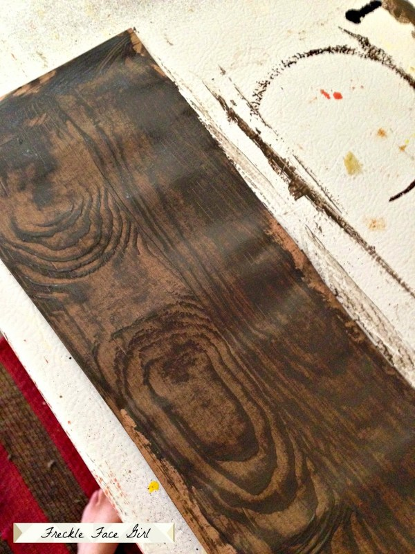 faux wood plank from brown paper, Freckle Face Girl for Remodelaholic