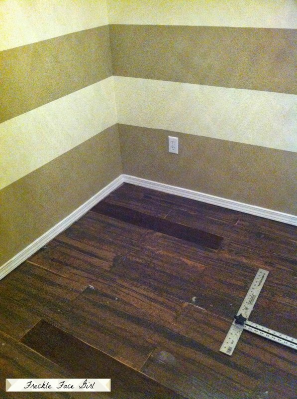 install faux wood plank floor, Freckle Face Girl for Remodelaholic