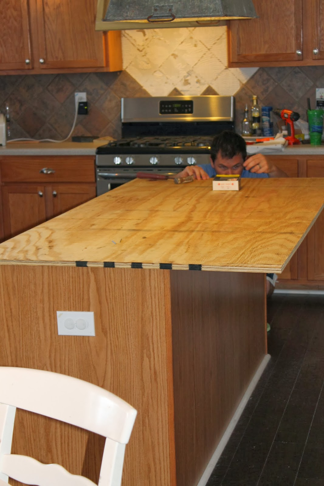 Best Kitchen Gallery: Remodelaholic How To Create Faux Reclaimed Wood Countertops of 2x4 Kitchen Counter on rachelxblog.com