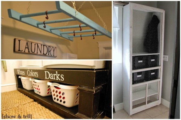 laundry storage solutions via Remodelaholic.com