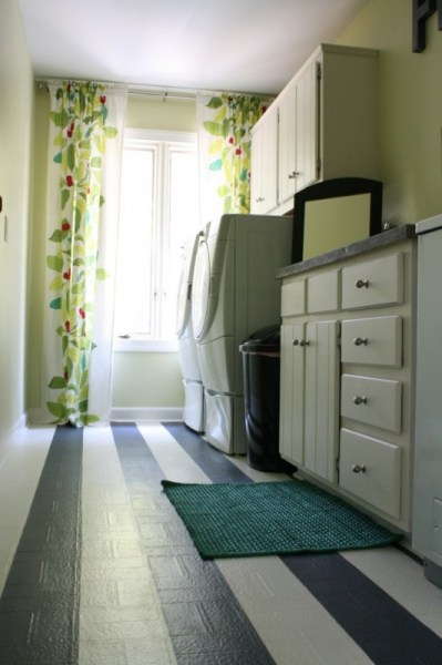 small laundry room budget makeover via Remodelaholic.com