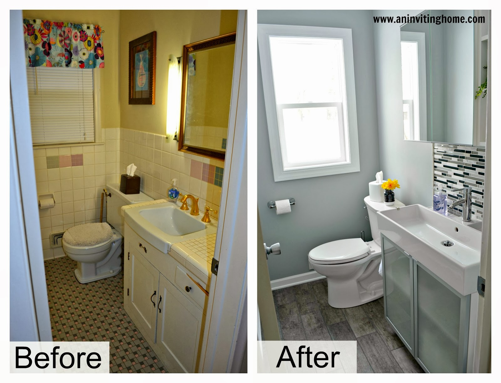 Exceptionnel Modern Bathroom Update Before And After