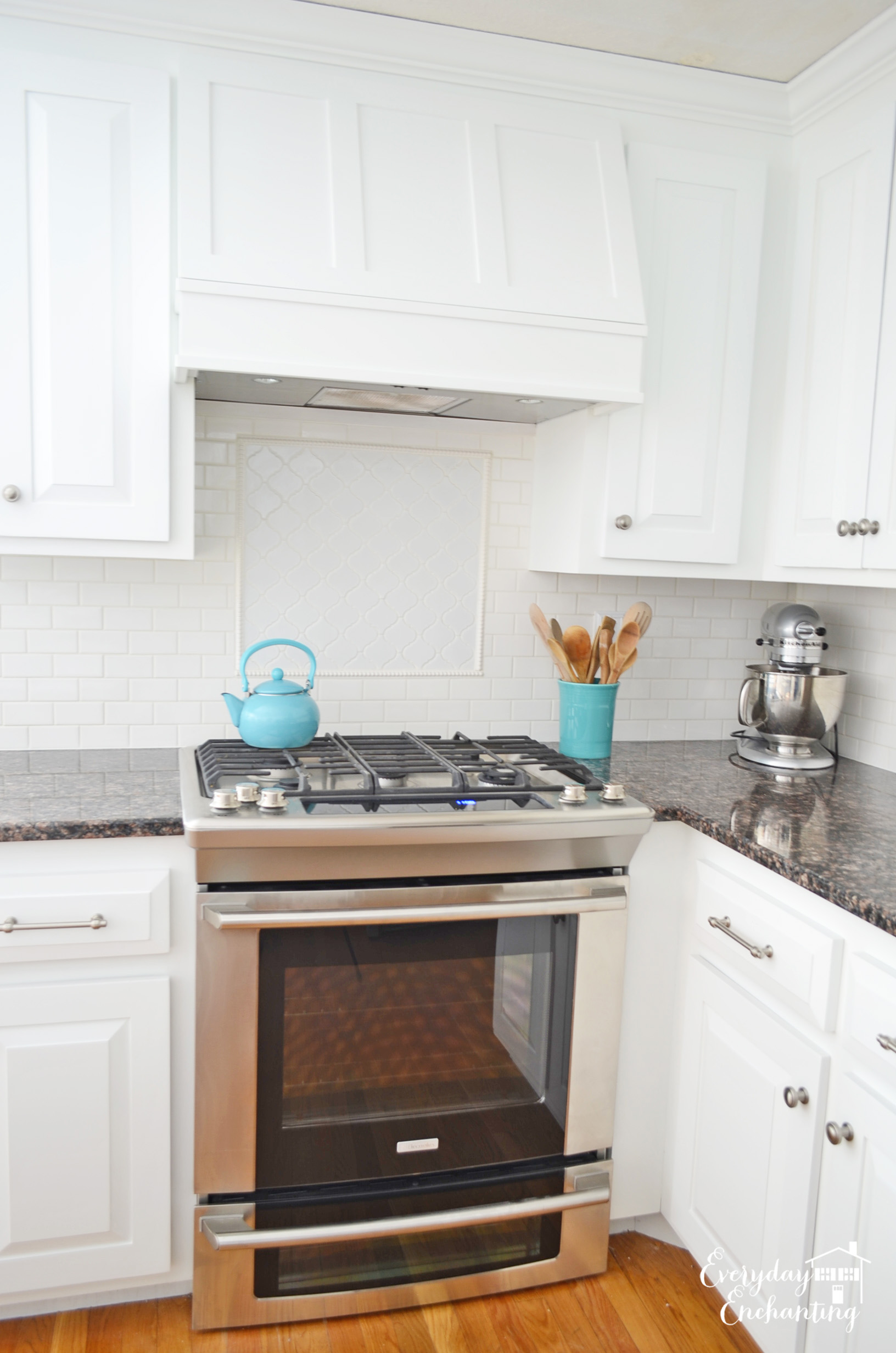Remodelaholic White Kitchen Overhaul With Diy Marble Island