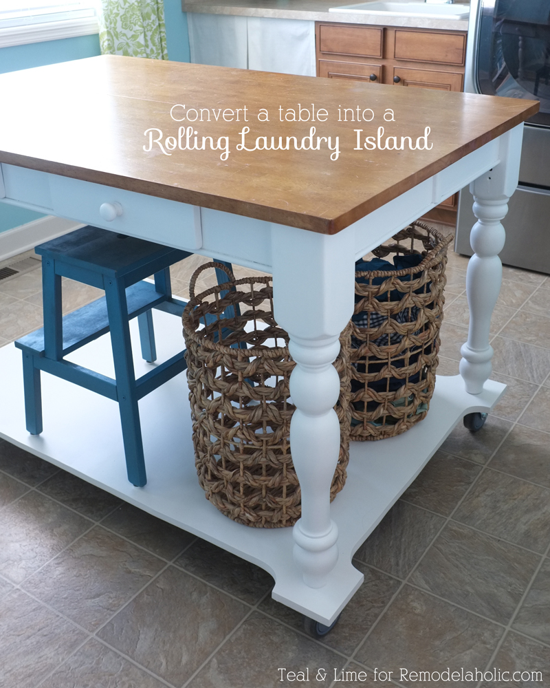 How To Turn A Table Into Rolling Island