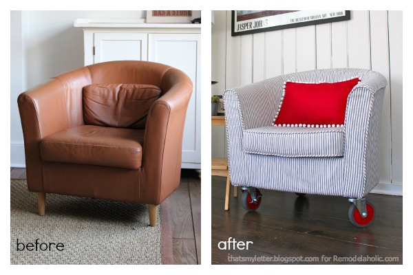 Strange Remodelaholic How To Reupholster A Tub Chair Uwap Interior Chair Design Uwaporg