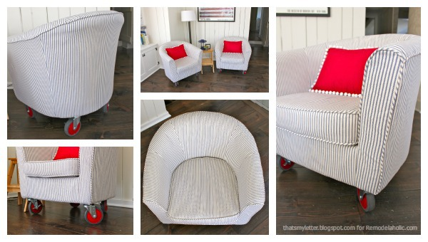 Remodelaholic How To Reupholster A Tub Chair