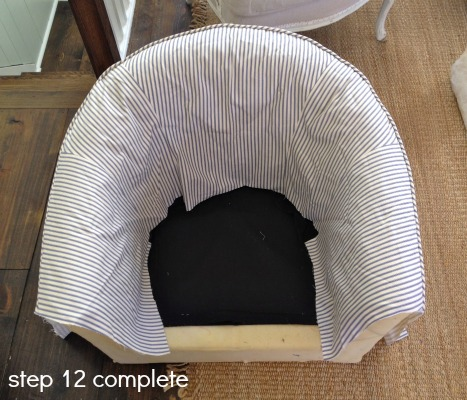 Pleasant Remodelaholic How To Reupholster A Tub Chair Ncnpc Chair Design For Home Ncnpcorg