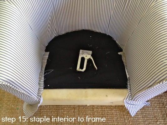 tub chair step 15