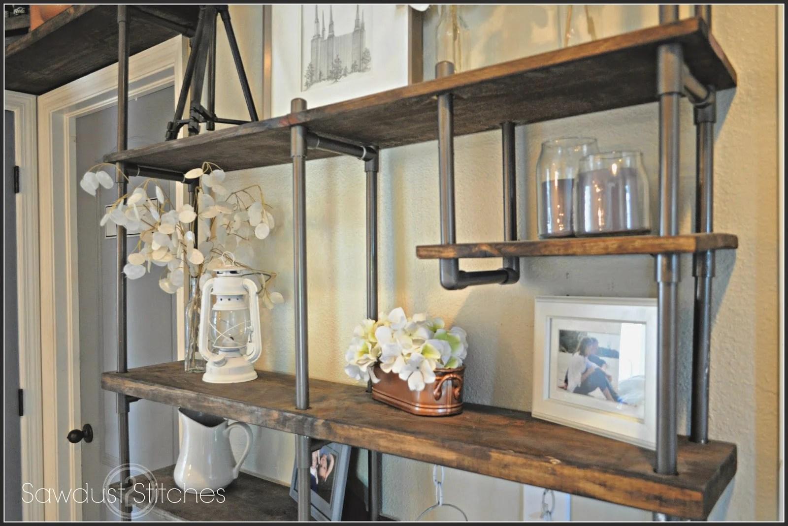 Fresh Remodelaholic | Build a Budget-Friendly Industrial Shelf Using PVC  ND33