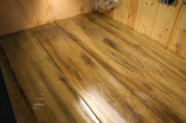 waterlox sealed faux reclaimed wood counter, The Ragged Wren on Remodelaholic
