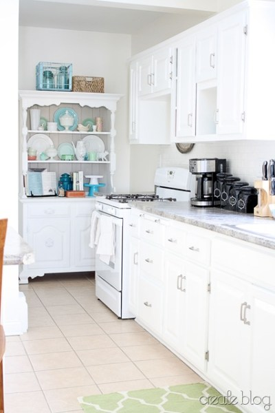 white kitchen remodel, Create on Remodelaholic