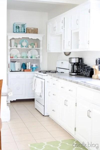 white kitchen remodel, Create on Remodelaholic
