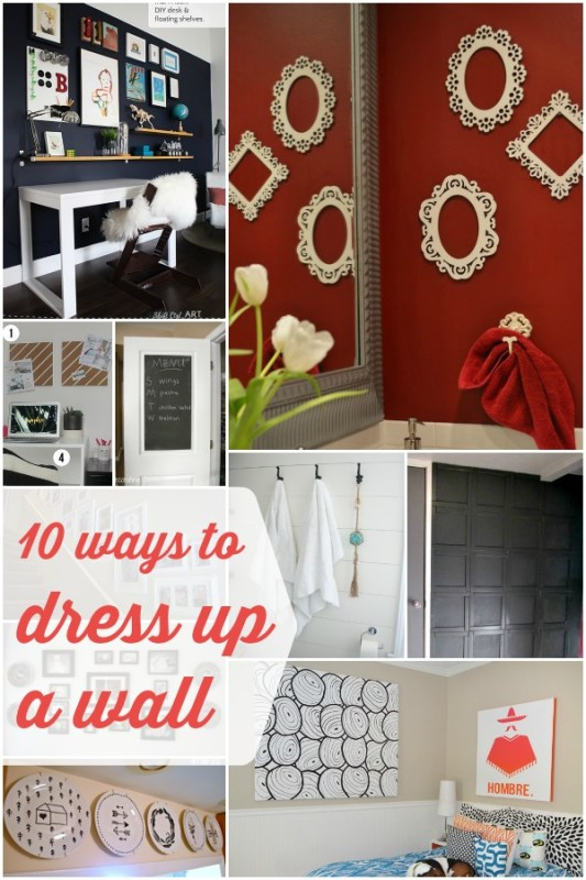 10 Wall Decor Ideas | Remodelaholic.com #decoration #wallart #accentwall