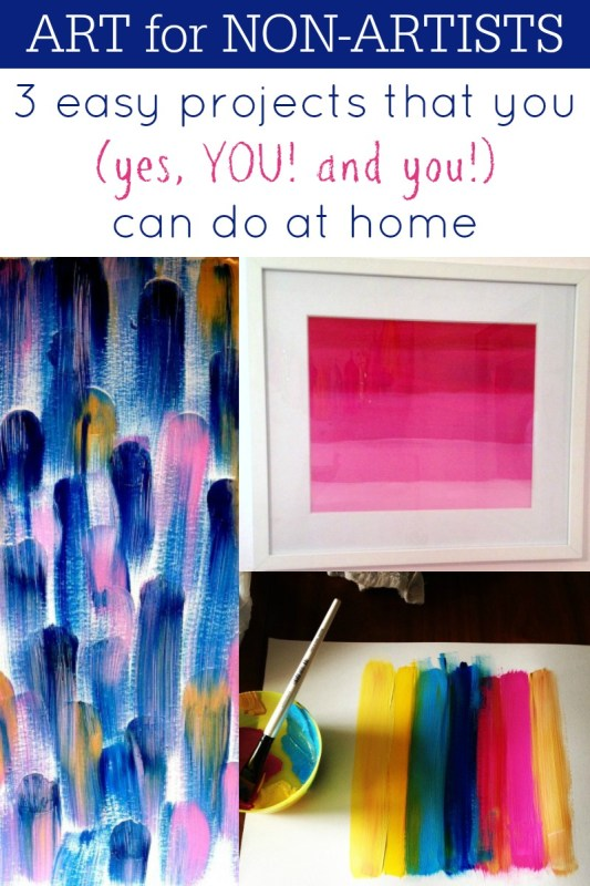 3 easy diy art projects that you can do at home via @Remodelaholic