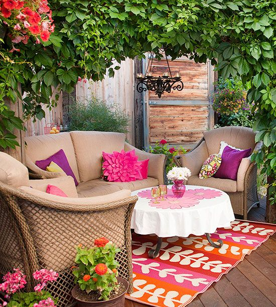 Outdoor room seen on Better Homes and Gardens