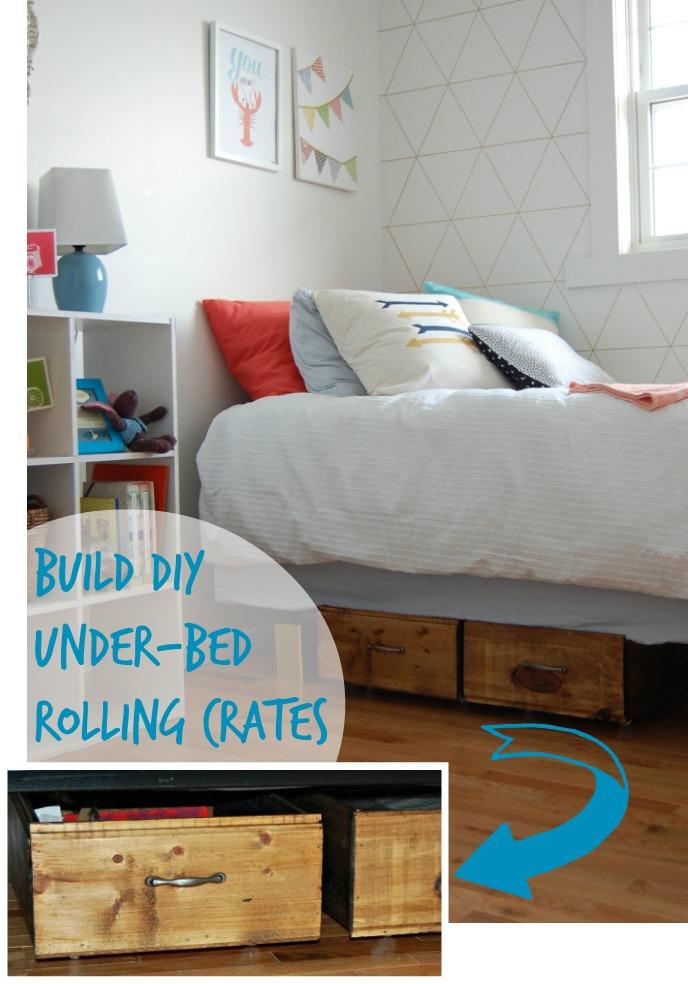 Build DIY Under-Bed Rolling Crates DIY Passion on Remodelaholic.com # storage & Remodelaholic | Build Your Own Rolling Under-Bed Storage Crates