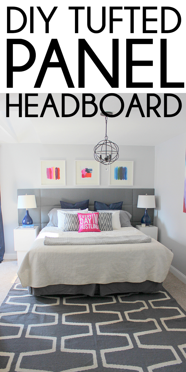 DIY Tufted Panel Headboard | Home Coming for Remodelaholic.com