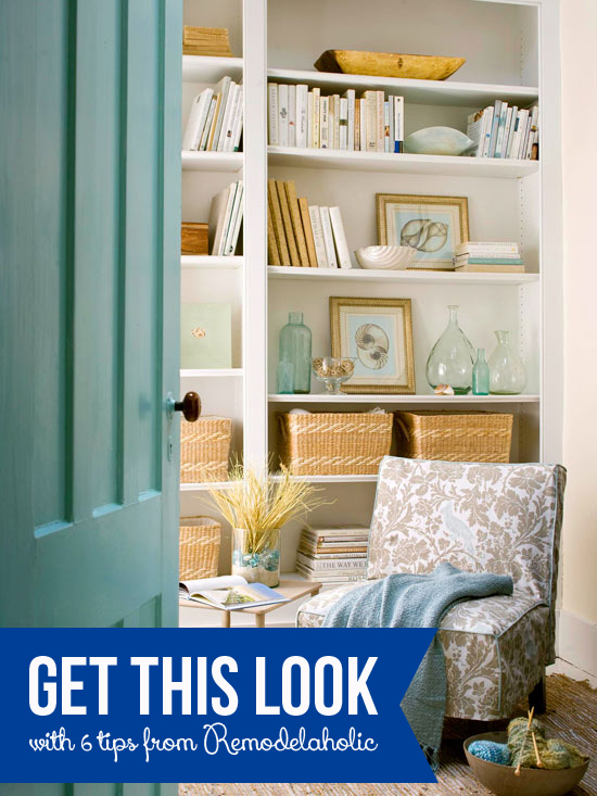 Get This Look: Relaxing Reading Nook on Remodelaholic.com #getthislook #decorate #tips