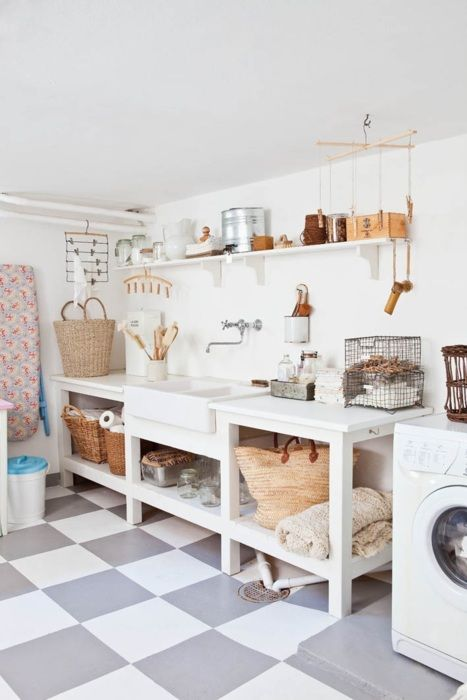 Open counter space, budget building Laundry room