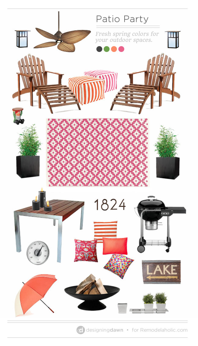 Patio Party: Fresh spring colors for your outdoor spaces | DesigningDawn.com on #Remodelaholic