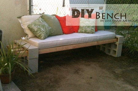 The Basement, simple DIY outdoor bench